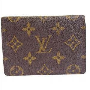 LOUIS VUITTON Bifold Pass Card Case Monogram